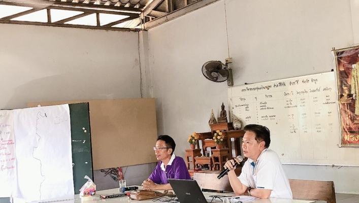 สทภ.1 โดยส่วนประสานและบริหารจัดการลุ่มน้ำปิงตอนบน ัดประชุมเชิงปฏิบัติการเพื่อรับฟังความคิดเห็นของประชาชนโครงการตามแผนการสำรวจ ปีงบประมาณ 2563 โครงการซ่อมปรับปรุงระบบกระจายน้ำจากฝายน้ำล้นสบจ๋อง อำเภอลี้ จังหวัดลำพูน