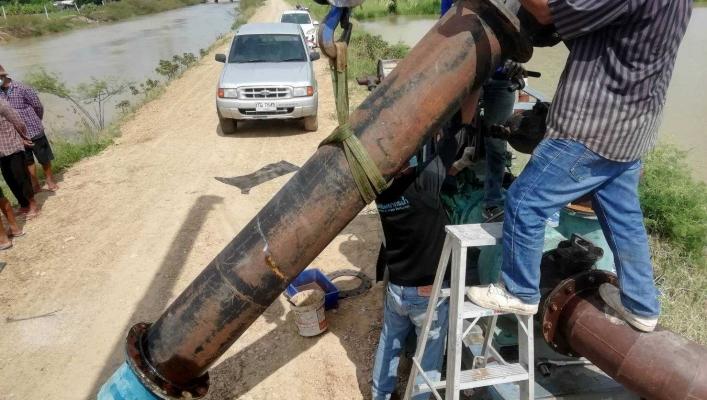 สทภ.7 ช่วยเหลือพื้นที่ประสบปัญหาน้ำท่วม