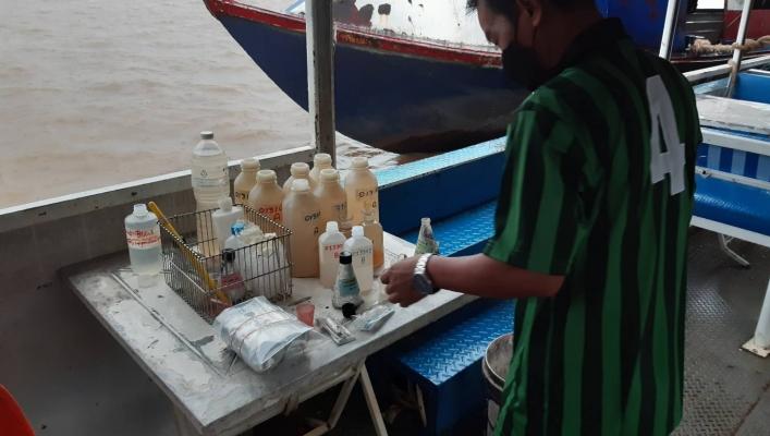 สทภ.11 ส่วนอุทกวิทยา ดำเนินกิจกรรมการติดตามตรวจสอบคุณภาพน้ำ ประจำปี 2564